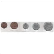 Trindade e Tobago 1; 5; 10; 25 e 50 Cents 1995-92-90-1983-78