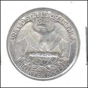 Estados Unidos, 1/4 Dollar, 1964, prata, soberba. Washington.