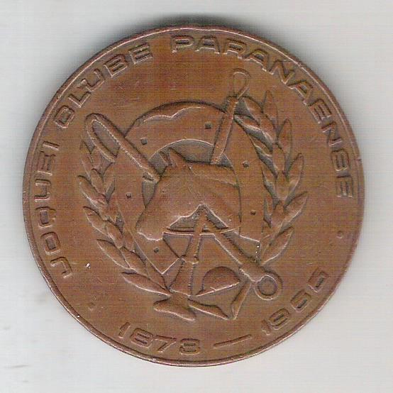 Brasil, medalha, 10-12-1955 Inauguração do Hipodromo do Tarumã - Joquei Clube Paranaense.