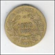 1931 - Brasil, 1000 Réis, bronze-alumínio, mbc.