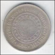 1896 - Brasil, 200 Réis, cuproníquel, bc.
