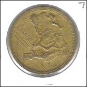 1945 - 2 Cruzeiros, Reverso Inclinado 45o, mbc.