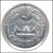 Estados Unidos, 1/4 Dollar, 1963, prata, PROOF. Washington.