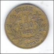 1928 - 500 Réis, bronze-alumínio, mbc
