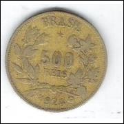1924 - 500 Réis, bronze-alumínio, mbc