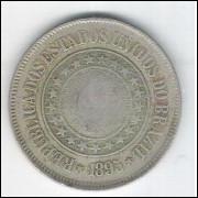 1895 - Brasil, 200 Réis, cuproníquel, bc/mbc.