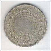 1898 - Brasil, 200 Réis, cuproníquel, bc.