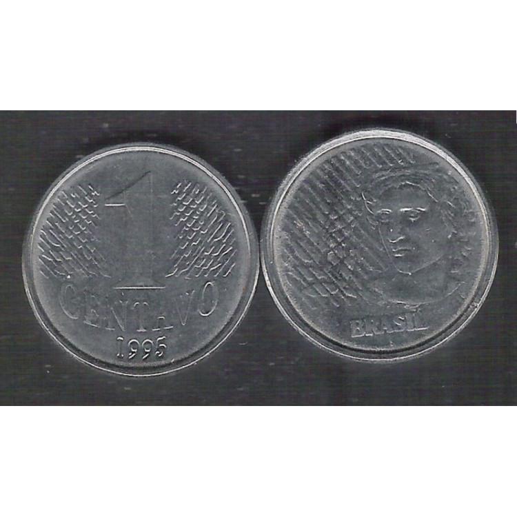 1995 - 1 Centavo, s, aço.