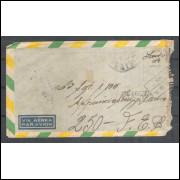 1945 - Envelope de Caçapava para Itália com carimbo de censura CCBS-63. Segunda Guerra.