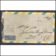 1945 - Envelope de Caçapava para Itália com carimbo de censura CCBS-37. Segunda Guerra.