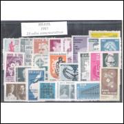 1965 - Coleção dos 23 selos comemorativos, novos.
