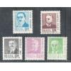 1967/1968 - 532/536 - Antigos Presidentes da República. Série, nova, MINT.