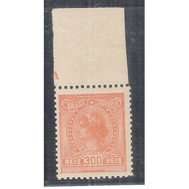 1918 - 159 - 300 Réis, sem filigrana. MINT