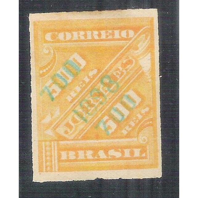 1899 - 119 -  Selo para jornal sobreestampado, 700/500 Réis, novo sem goma.