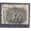 I-05 Brasil Império, 1844, 30 Réis, Inclinado,carimbado, sobre fragmento