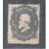 I-28 Brasil Império, 1866, 200 Réis, Dom Pedro II, picotado, novo.