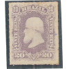 I-38 Brasil Império, 1877, 20 Réis, Dom Pedro II, Barba Branca, percê, novo.