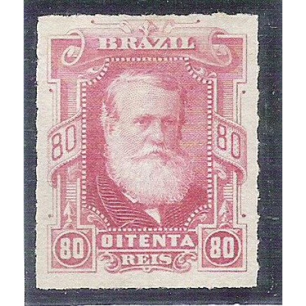 I-40 Brasil Império, 1878, 80 Réis, Dom Pedro II, Barba Branca, percê, novo.