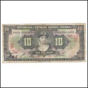 R184 - 10 Mil Réis, Caixa de Estabilização, 1a estampa, 1927, bc/mbc.