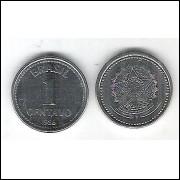 1986 - 1 Centavo, aço, fc.