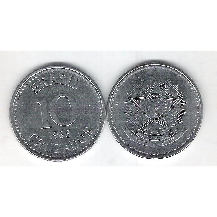 1988 - 10 Cruzados, aço, fc.