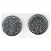 1989 - 50 Centavos, aço, fc. Rendeira.