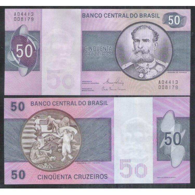 C144 - 50 Cruzeiros, 1980, Ernâne Galvêas e Carlos G. Langoni, S/FE. Deodoro da Fonseca.