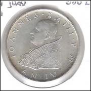 Vaticano, 500 Lire, 1962, prata .835, FC. Papa João XXIII