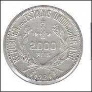 1924 - 2000 Réis, prata, soberba.