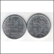 1979 - 10 Centavos, fc. Aço.