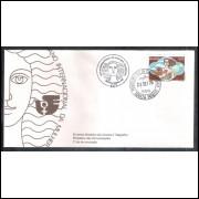 FDC-076 - 1975 - Ano Internacional da Mulher. Carimbo 1o Dia + Comemorativo - Santa Maria-RS