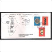 FDC-112 - 1977 - Cultura Negra. Arte. Carimbo 1o dia + COMEMORATIVO.