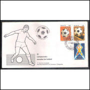 FDC-146 - 1978 - XI Copa do Mundo. Futebol. Carimbo 1o dia + Comemorativo - Curitiba-PR