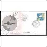 FDC-154- 1978 - 50 Anos do Raid Savoia-Marc. Aviação. Carimbo 1o dia + Comemorativo - Rio