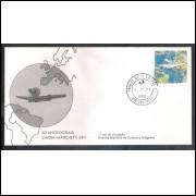 FDC-154- 1978 - 50 Anos do Raid Savoia-Marc. Aviação. Carimbo 1o dia - Pernambuco.