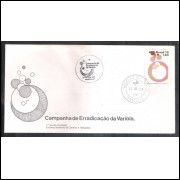FDC-155- 1978 - Campanha da Erradicação da Varíola. Medicina.Carimbo 1o dia + Comemorativo-São Paulo