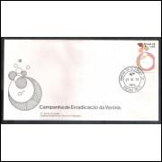 FDC-155- 1978 - Campanha da Erradicação da Varíola. Medicina.Carimbo 1o - Ribeirão Preto.