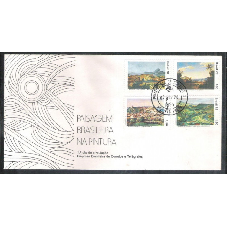 FDC-166- 1978 - Dia do Livro - Guimarães Rosa. Literatura. Carimbo 1o Dia+Comemorativo - R. Preto.