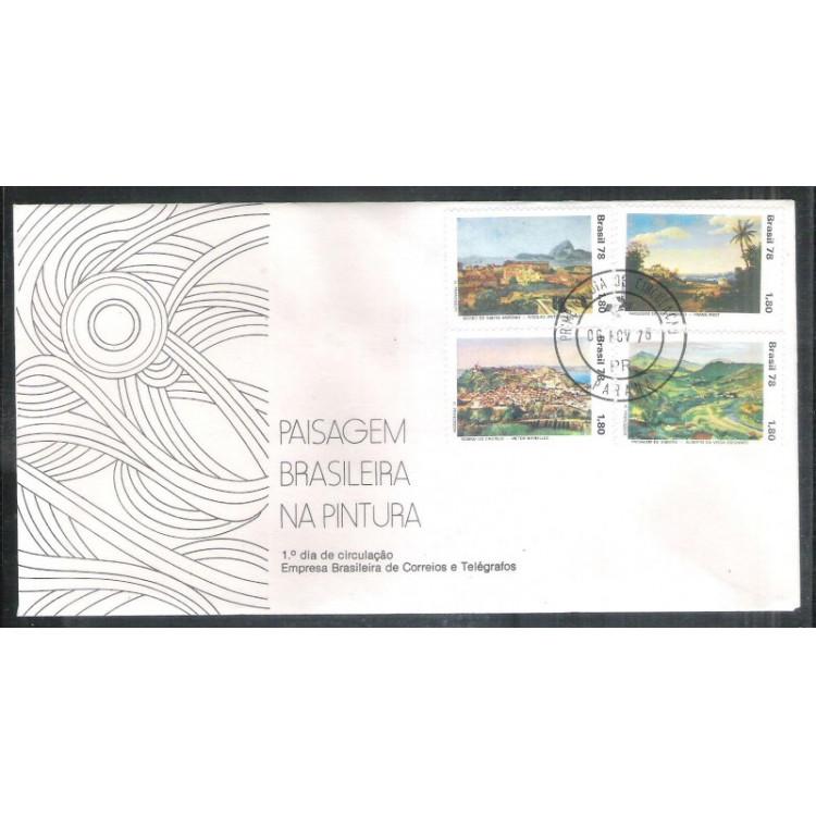 FDC-166- 1978 - Dia do Livro - Guimarães Rosa. Literatura. Carimbo 1o Dia+Comemorativo - Paraná.