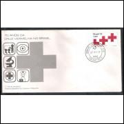 FDC-169- 1978 - 70 Anos da Cruz Vermelha no Brasil. Medicina. Carimbo 1o Dia - Ribeirão Preto.