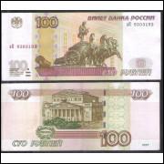Rússia (P.270) - 100 Rublos, 1997 (2004), soberba.