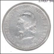 1906 - 2000 Réis, prata, bc/mbc.