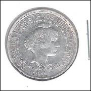 1912 - 500 Réis, prata, soberba, estrelas ligadas, Brasil-República.