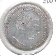Portugal, 500 Réis, 1859, Petrus V, prata, mbc.