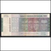 C149 - 500 Cruzeiros 1974, Série A00781, Simonsen/Paulo Lira,bc/mbc.Comemorativa, Evolução das Raças