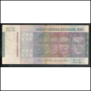C149 - 500 Cruzeiros 1974, Série A01121, Simonsen/Paulo Lira,bc/mbc.Comemorativa, Evolução das Raças