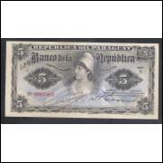 Paraguai (P.156) - 5 Pesos, 1907, FE, P.156.
