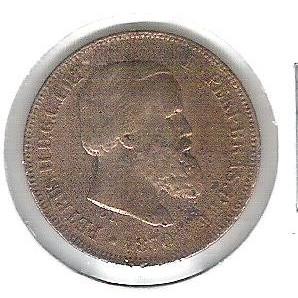 1870 - Brasil-Império, Dom Pedro II, 10 Réis, bronze, bc.