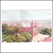 LN06 - Cartão postal antigo,  Londrina, Igreja Matriz.
