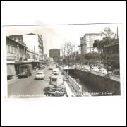 PT03 - Foto Postal Colombo, Petrópolis, Av. 15 de Novembro. Carros.